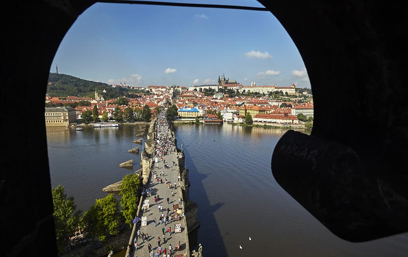 4 - Charles Bridge - a view from the Bridge Tower (22 km)